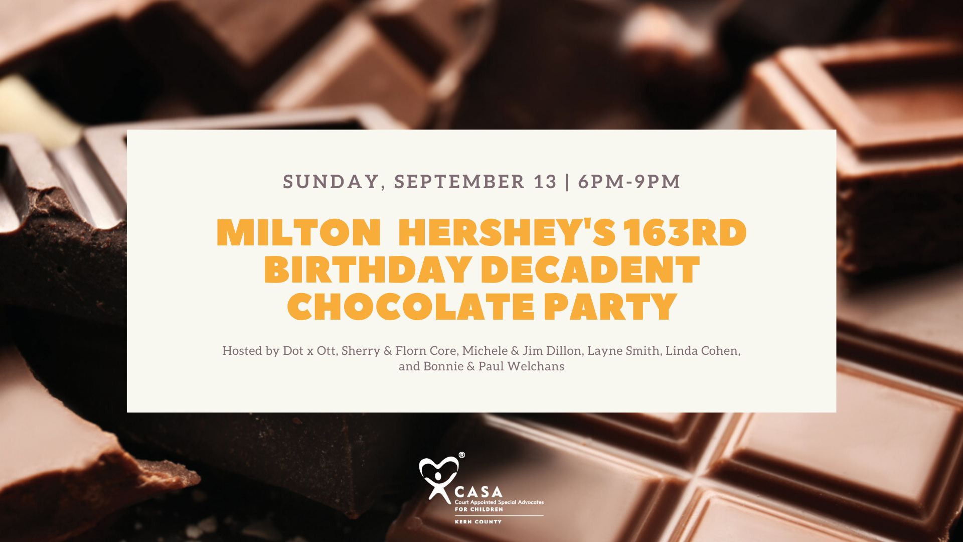 Milton Hershey's 163rd Birthday – Decadent Chocolate Party