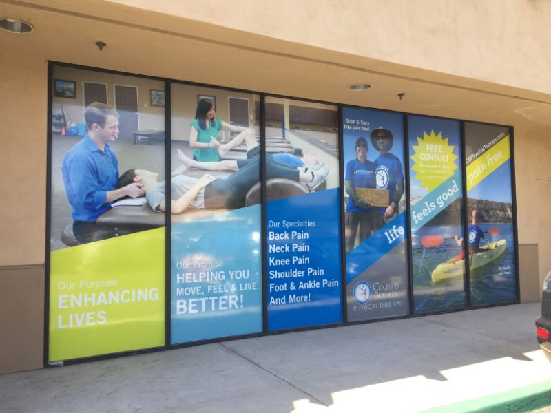 Perforated Window Graphics in Tustin CA