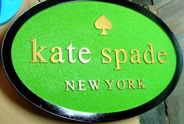 """SA28060 - Sandblasted Sign with """"Spade"""" Logo for Clothing Store"""
