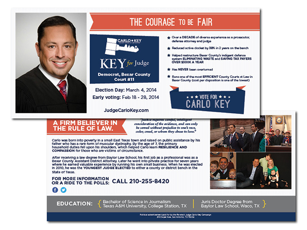 Judge Carlo Key Direct Mailer