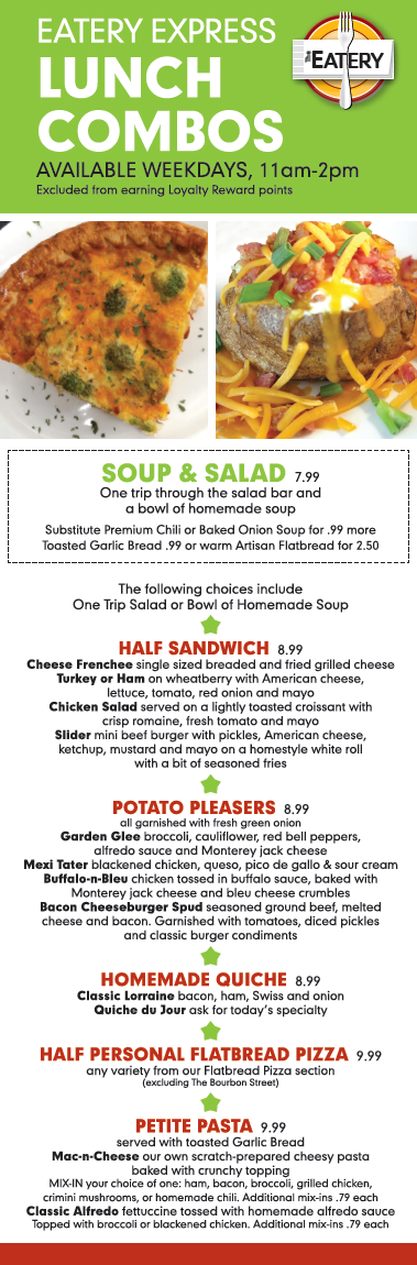 Eatery Express Lunch Combos
