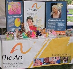 Arc Posters at a Resource Fair