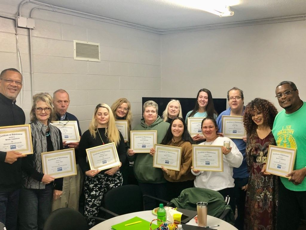 1st GRADUATING CLASS FROM SUD RECOVERY-FOCUSED PEER SUPPORT SPECIALIST CURRICULUM TRAINING IN NORTH CAROLINA