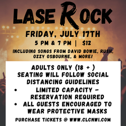 Seats Available - LaseRock & Roll Show