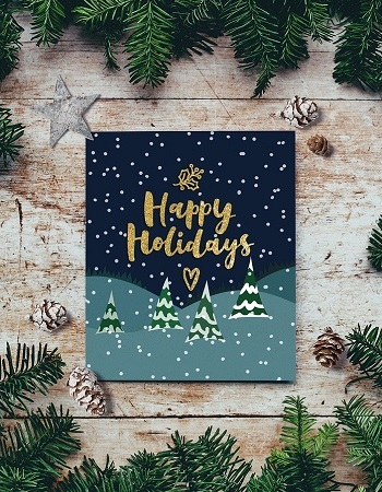 """Holiday Cards - 5"""" x 7"""" Full Color, Blank envelopes included"""