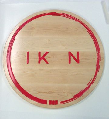 CNC CARVED MAPLE LOGO