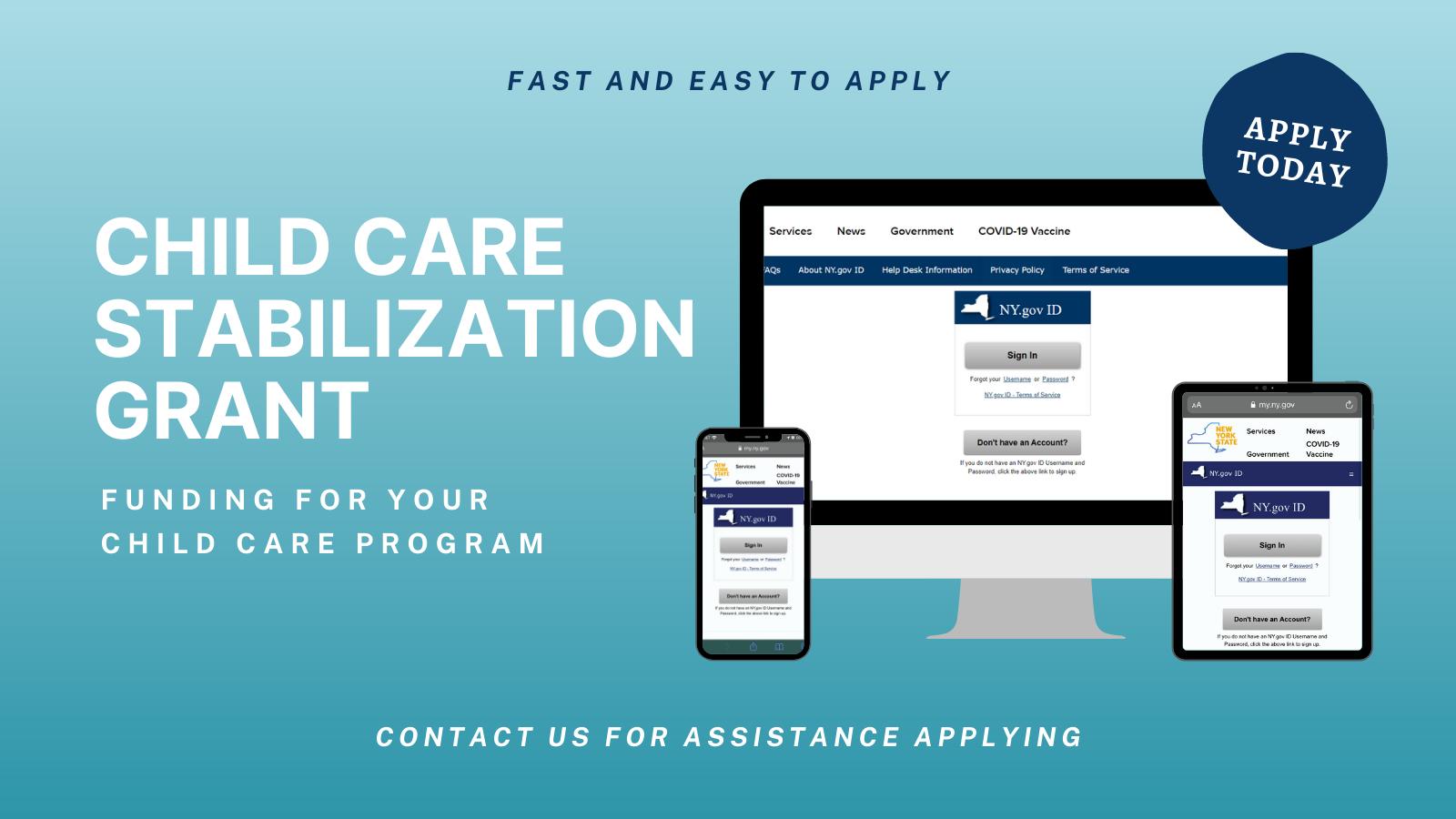 Child Care Stabilization Grant Application Info
