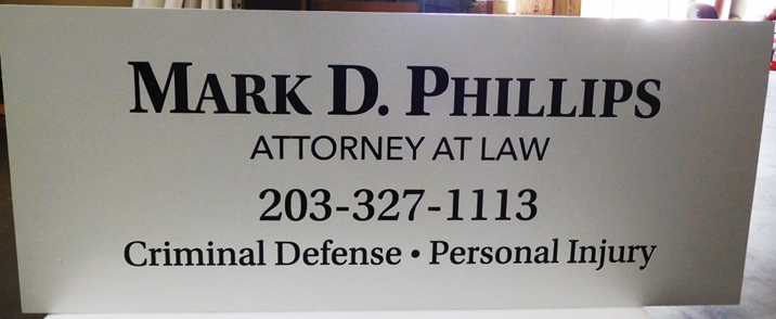 "A10427 - Engraved Aluminum-Plate Sign for""Mark D. Phillips, Attorney-At-Law"""