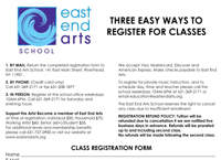CLICK HERE for Printable Class Registration Form
