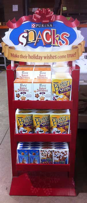 Purina Pet Snacks Sales Display