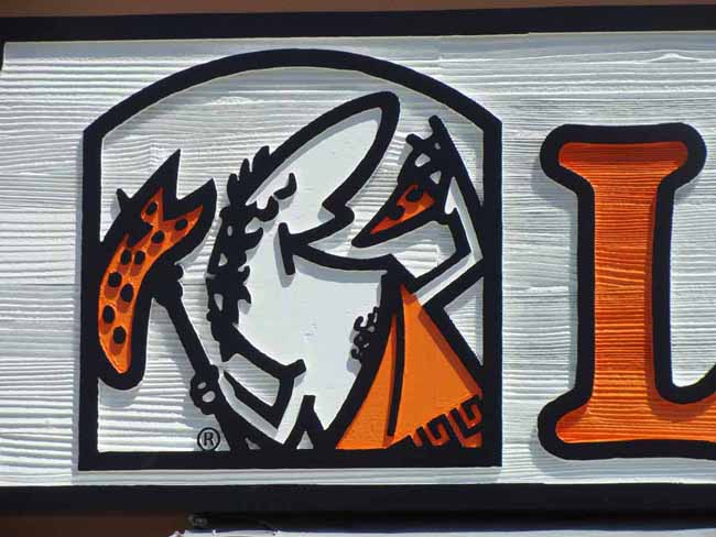 """Q25216 - Carved Little Caesar for Carved Wood Sign """"Little Caesars Pizzeria"""""""