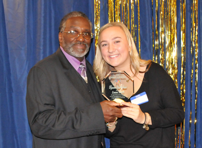 Ms. Emma Shafer, winner of the FCCG Dynamic Youth Award, with Silas Johnson.