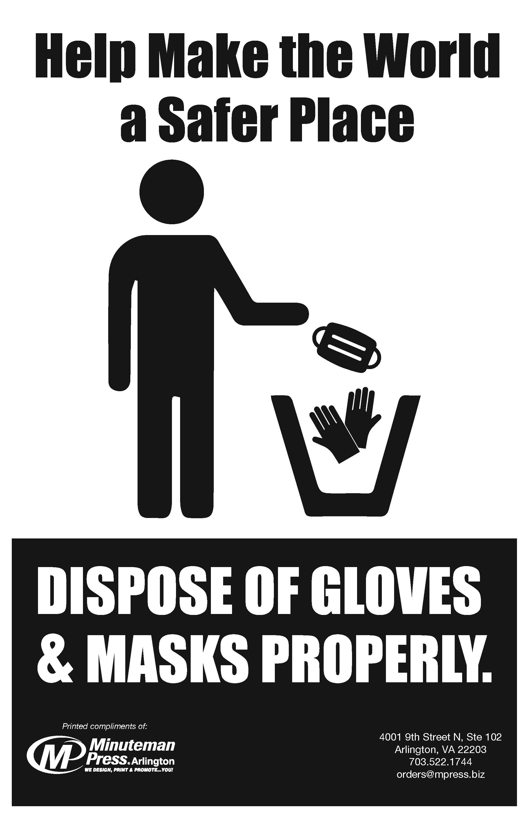Dispose Gloves Poster