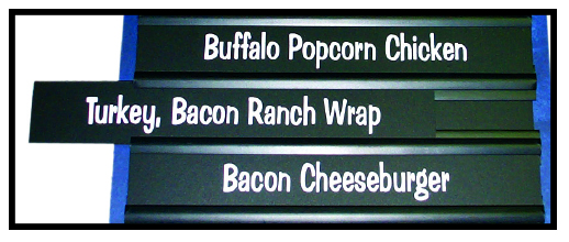 Individual Printed Menu Strips