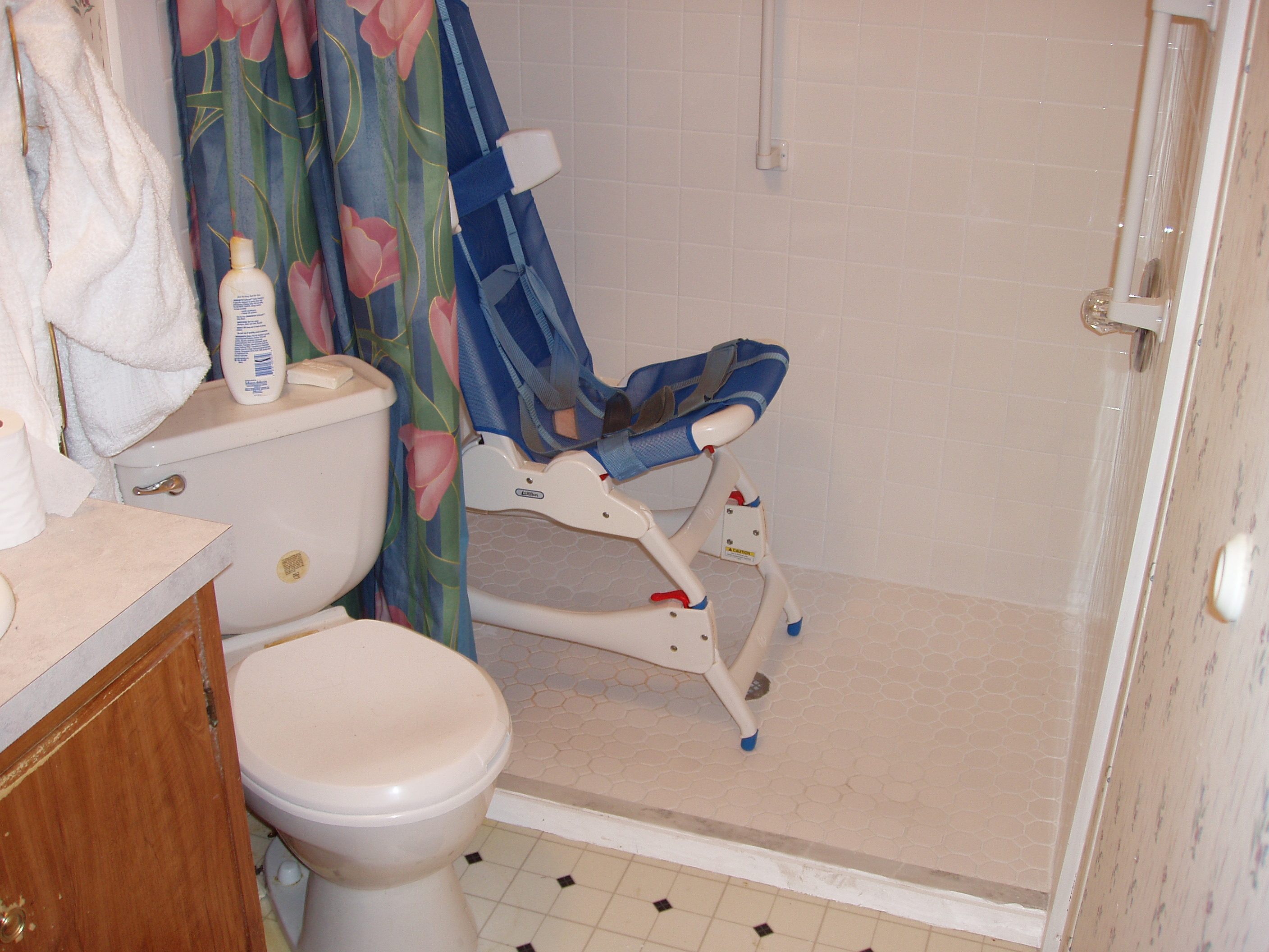 A roll-in shower project
