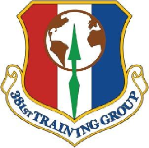 V31579 - Carved Wall Plaque of the Crest of the  US Air Force 381st Training Group