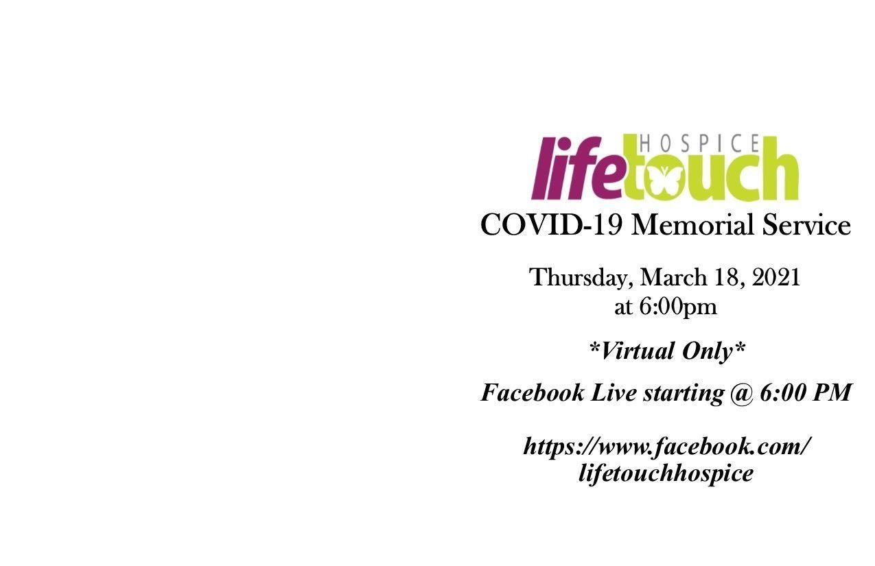 COVID-19 Memorial Service