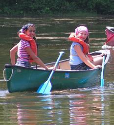 Girls Canoe