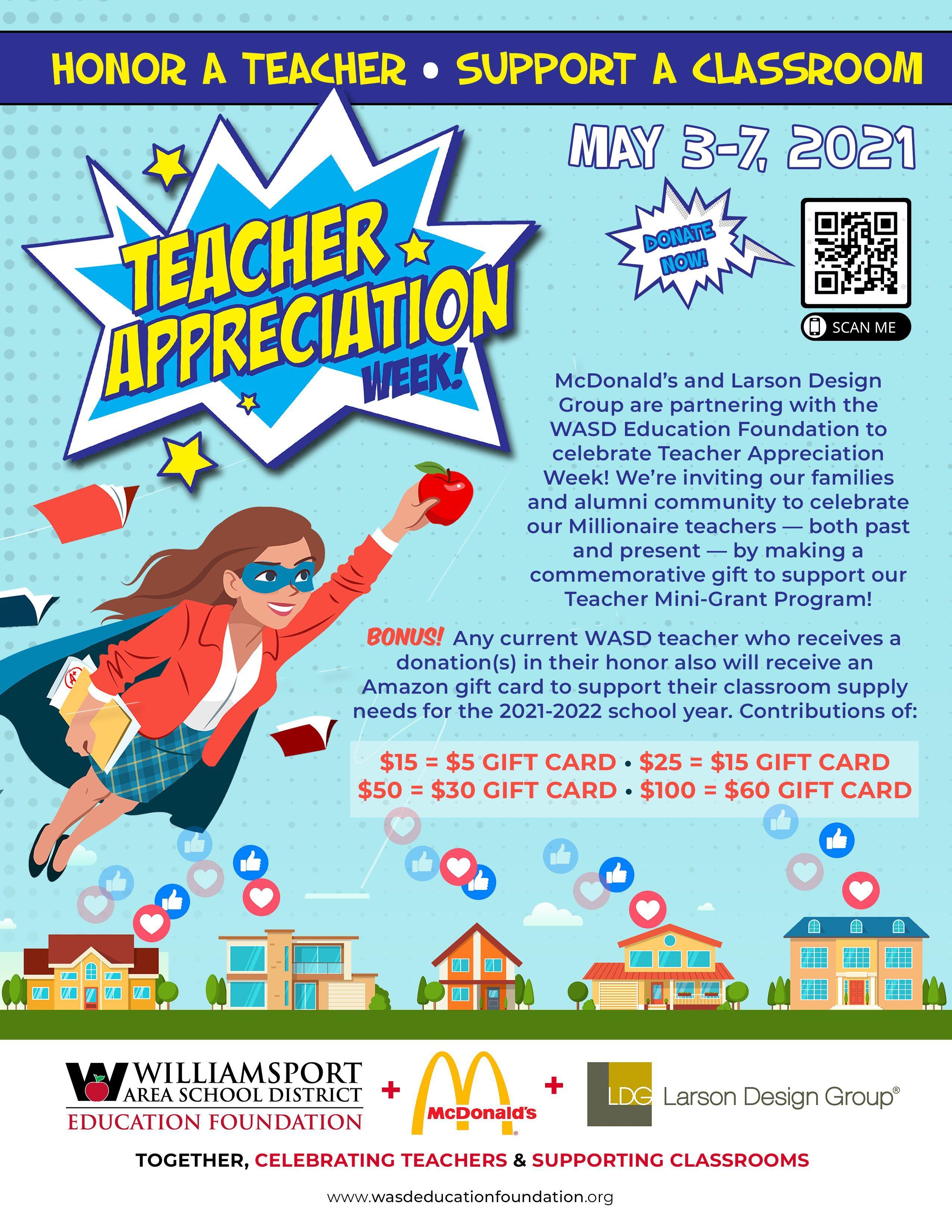 McDonald's, Larson Design Group Partner with WASDEF to Celebrate Teacher Appreciation Week