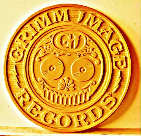 SA28445 - Carved Wood Wall Plaque for Record Company