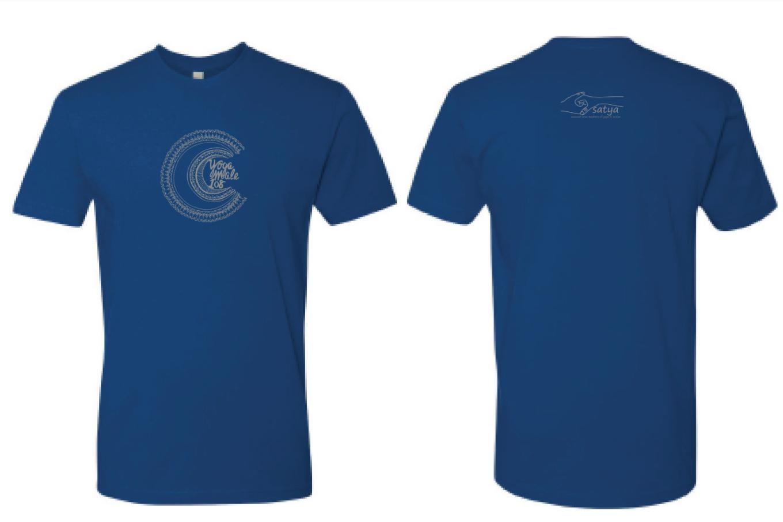 '18 Yoga Mala T-Shirt (Blue-Medium)
