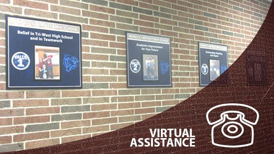 Descon virtual assistance link, custom signs, school signage company, school graphics