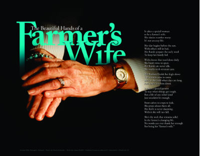 Beautiful Hands of a Farmer's Wife print
