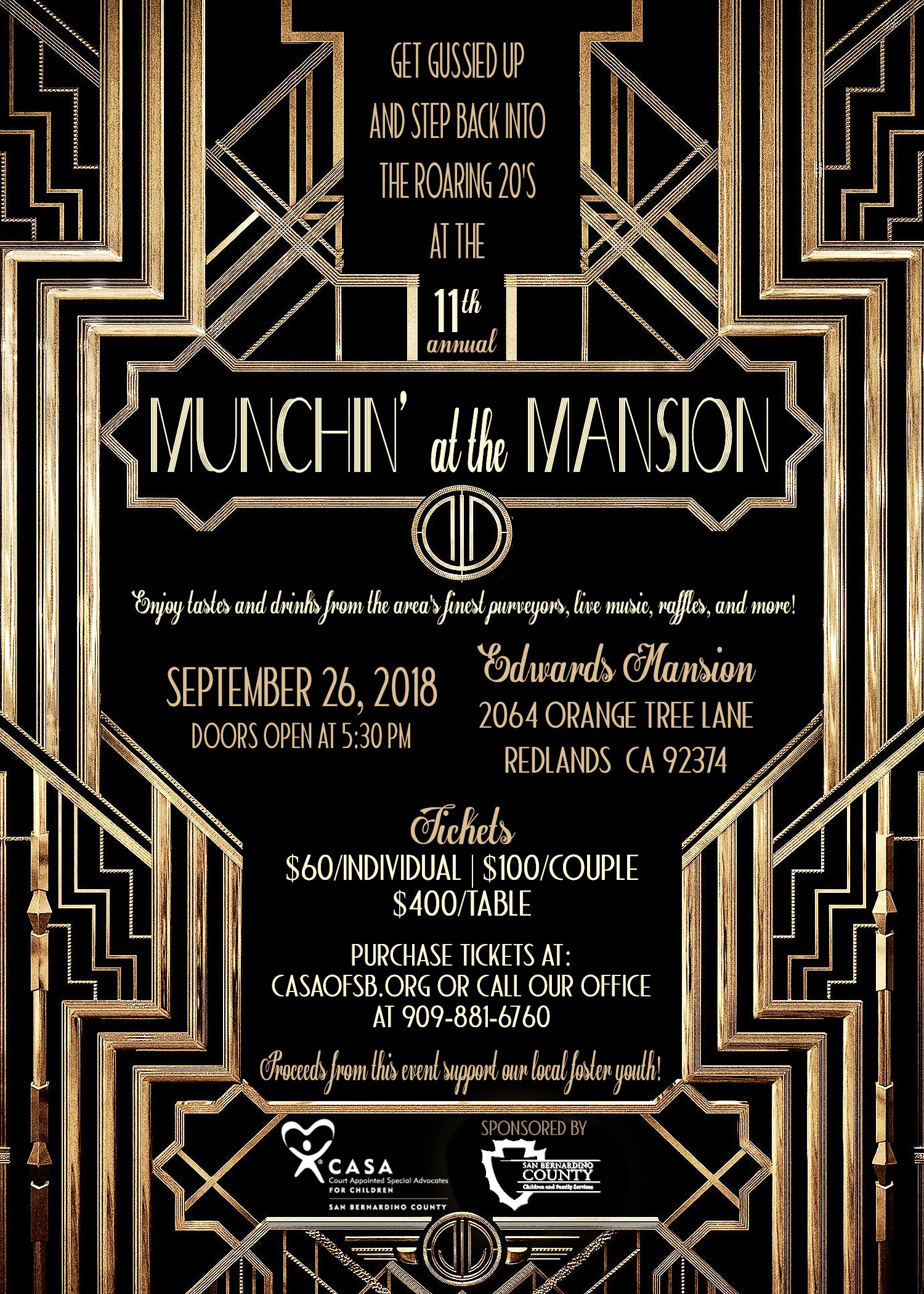 C.A.S.A. PRESENTS MUNCHIN' at the MANSION
