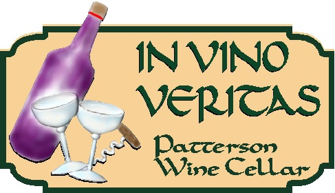 R27343 - In Vino Veritas Custom Carved Wine Plaque