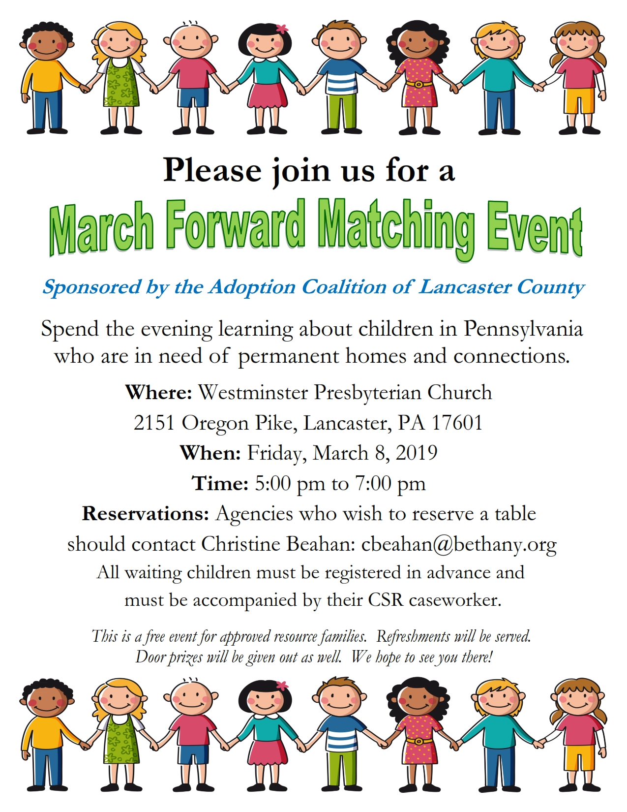 March Forward Matching Event