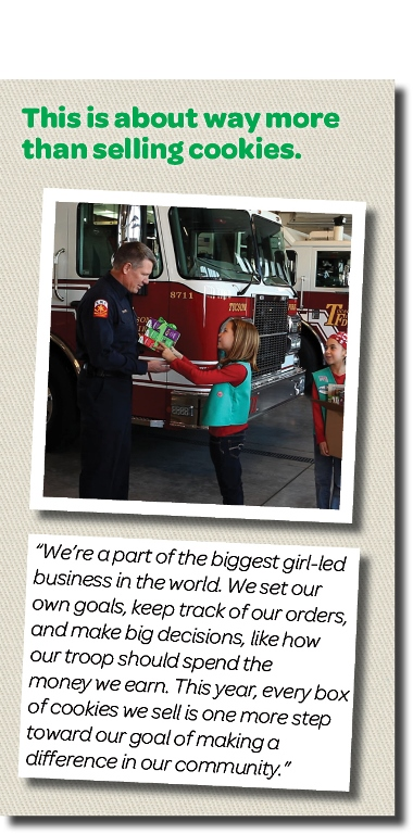 Girl Scout at fire department