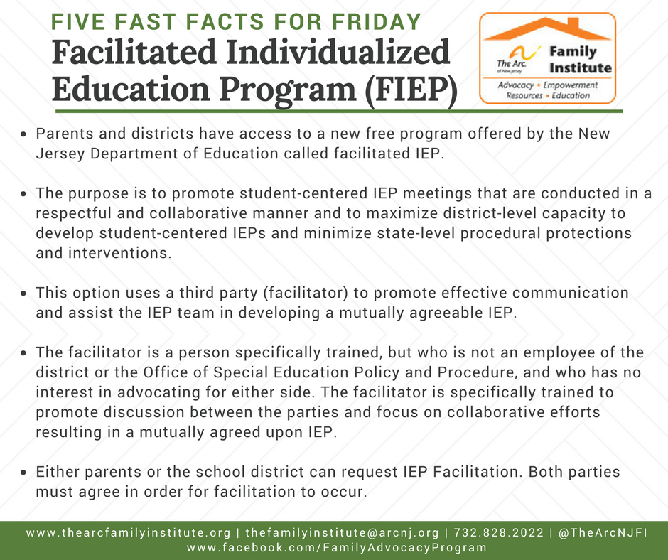 Facilitated Individualized Education Program (FIEP)