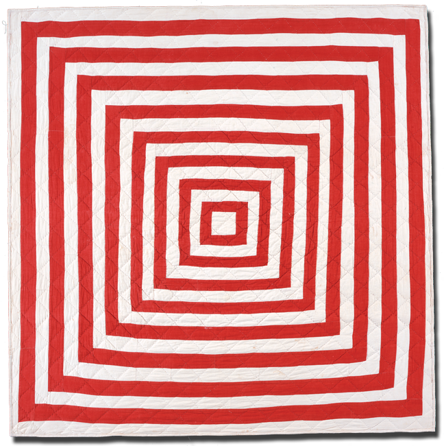 Concentric Squares, Maker unknown, Made in United States, Circa 1890-1910, 42 x 41.5 in, IQSC 1997.007.0705