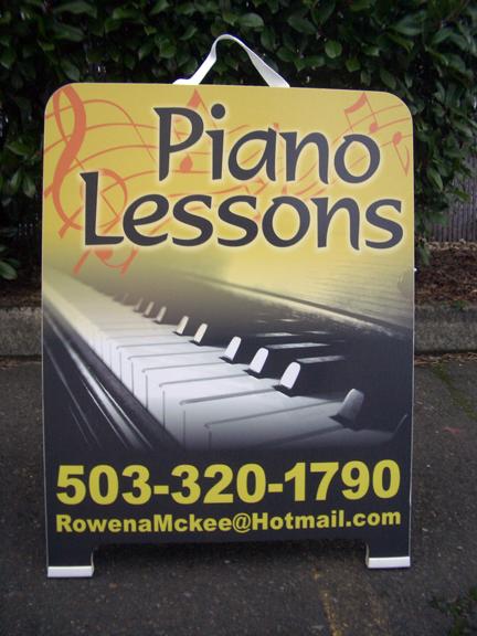 Piano Lessons A-board