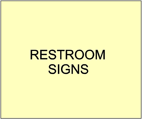 4. - GA16600 - Carved Restroom Signs for City, Town, Village and Private Parks and Gardens
