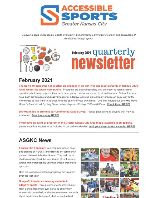 February 2021 ASGKC Newsletter