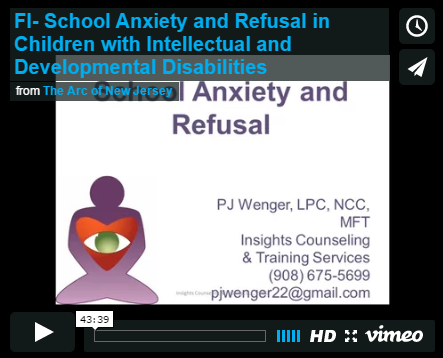 School Anxiety and Refusal in Children with Intellectual and Developmental Disabilities