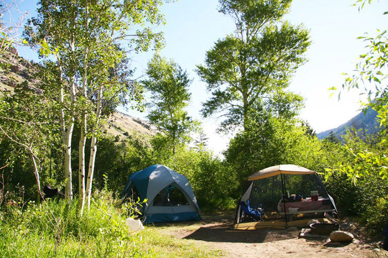 sinks canyon state park visitor info camping popo agie campground