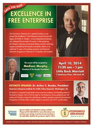 Save the Date for Spring 2014 Excellence in Free Enterprise Award Luncheon