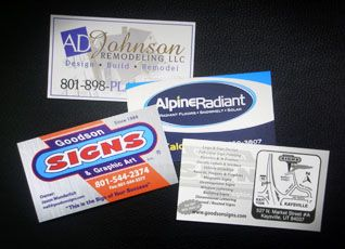 Products: Business Cards