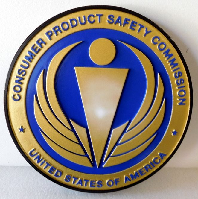 AP-5070 - Plaque of the Seal of the Consumer Product Safety Commission, Artist Painted
