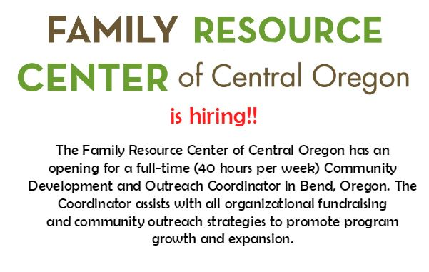 Family Resource Center is seeking a Community Development and Outreach Coordinator!