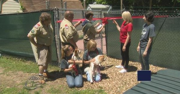 Boy Scout leads renovations for improved dog run in Bergen County
