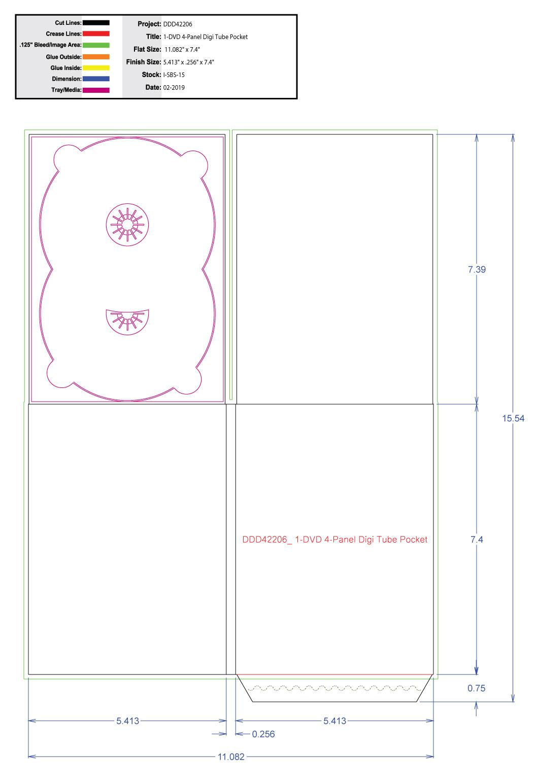 DDD42206 1 Tray Tube Pocket