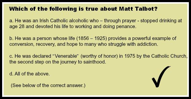 Matt Talbot's Road to Sainthood