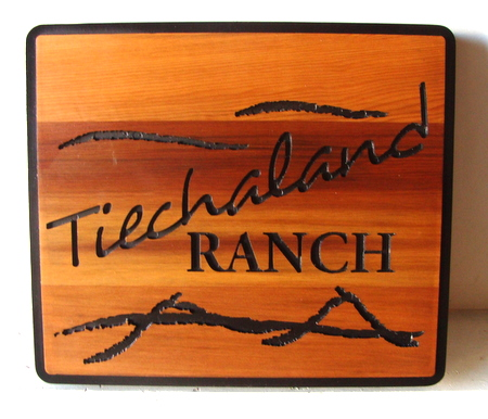 M3320 - Western Cedar Engraved Ranch Sign (Gallery 23)