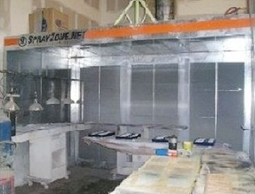 Paint spray booth for sign painting
