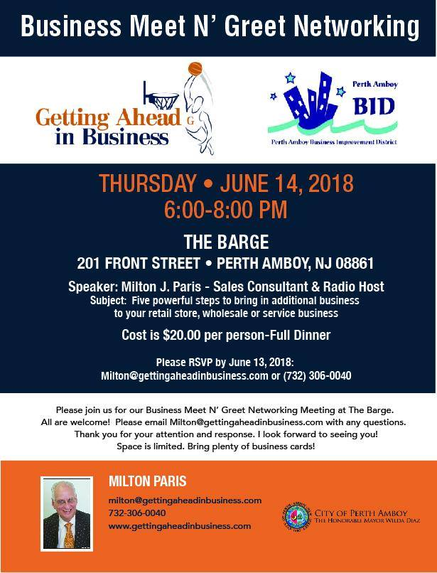 Perth amboy redevelopment team for neighborhood enterprise and business meet greet reheart Image collections