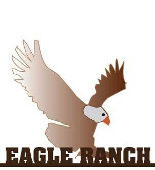 O24984 - Wrought Iron Eagle Ranch Sign, with Bald Eagle