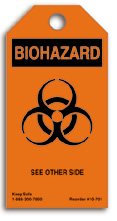 Biohazard Caution Tag